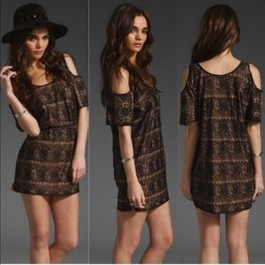 Lovers + Friends Weekend Tunic Dress Cold Shoulder